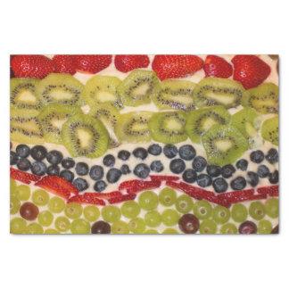 Fruit Pizza Close-Up Photo Tissue Paper