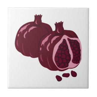 Fruit Pomegranate Small Square Tile