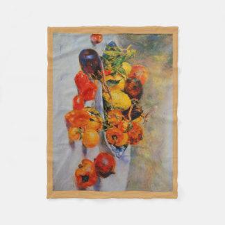 Fruit Renoir Art Print Fleece Blanket