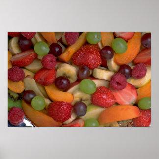 Fruit salad close-up posters