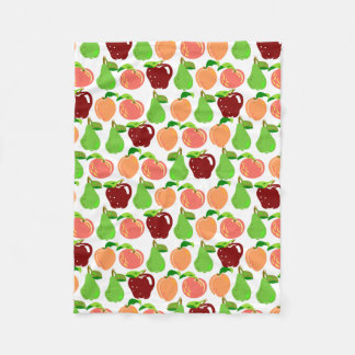 Fruit Salad, From Peach to Apples Fleece Blanket