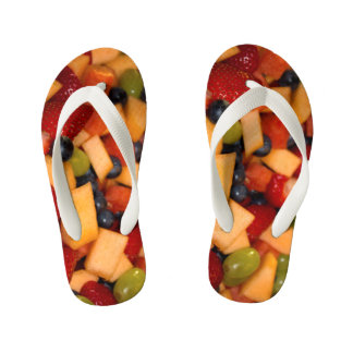 Fruit Salad Photo Kid's Thongs