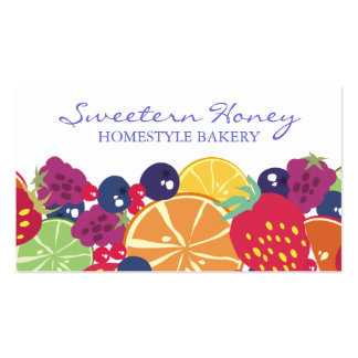 fruit salad strawberry blueberry raspberry citrus pack of standard business cards