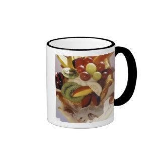 Fruit salad with ice cream. ringer mug