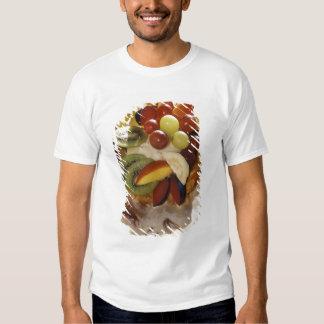 Fruit salad with ice cream. t shirts