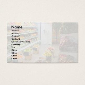 Fruit shop business card
