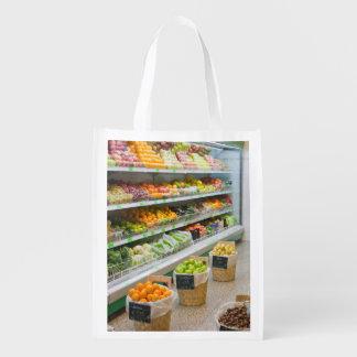Fruit shop reusable grocery bag
