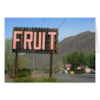 Fruit sign card