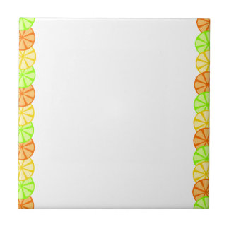 Fruit Slice Frame Small Square Tile