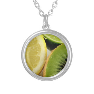 Fruit Slices Round Pendant Necklace