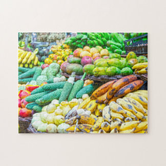 Fruit stall in the Grenadines. Jigsaw Puzzle