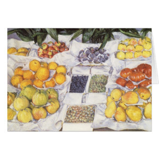 Fruit Stand by Gustave Caillebotte, Vintage Art Card