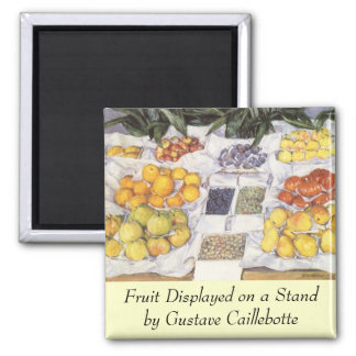 Fruit Stand by Gustave Caillebotte, Vintage Art Square Magnet