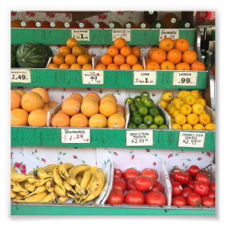 Fruit Stand, Columbus Avenue, New York City, NYC Photo Print