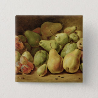 Fruit Still Life 15 Cm Square Badge