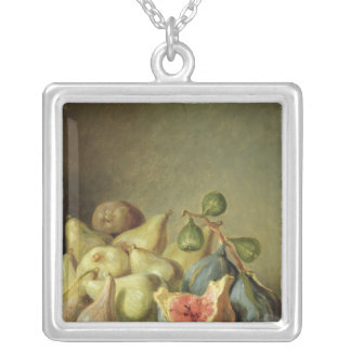 Fruit Still Life Silver Plated Necklace