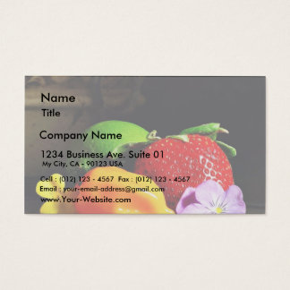 Fruit Still Life Srawberry Strawberries Limes Pepp Business Card