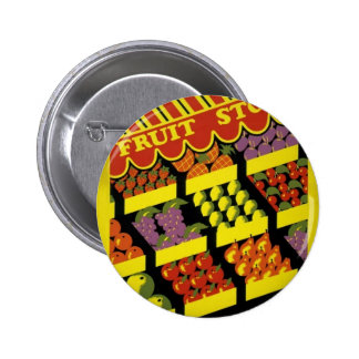 Fruit Store- WPA Poster - Pinback Buttons