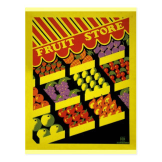 Fruit Store- WPA Poster - Postcard