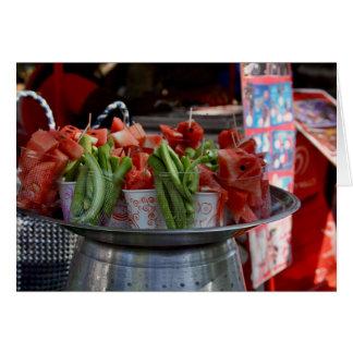 Fruit Street Vendor - Southern India Card