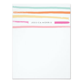 Fruit Stripes Stationery - Tangerine Card
