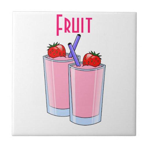 Fruit Sweet Smoothie Strawberry Dessert Destiny Tile