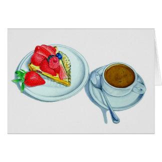 Fruit Tart and Espresso Card