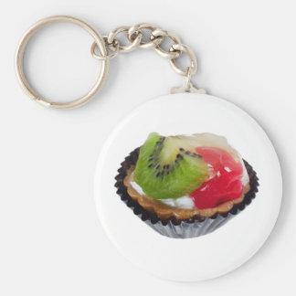 Fruit tart key chain