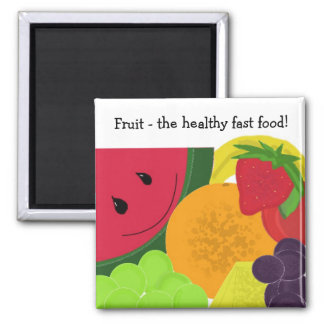 Fruit the Healthy Fast Food Magnet