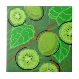 Fruit Tile:  Kiwis Small Square Tile
