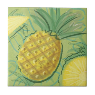 Fruit Tile: Pineapples Ceramic Tile