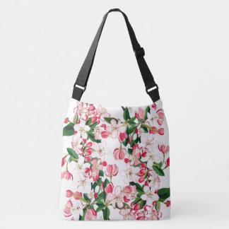 Fruit Tree Flower Blossom Shoulder Tote Bag
