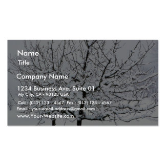 Fruit Tree In Winter Clothing Business Cards