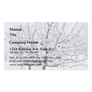Fruit Tree In Winter Clothing Business Card Template
