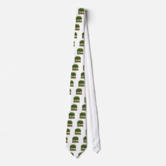 Fruit trees with green leaves in spring tie