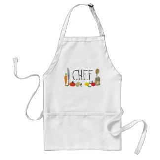fruit vegetable utensils cooking apron