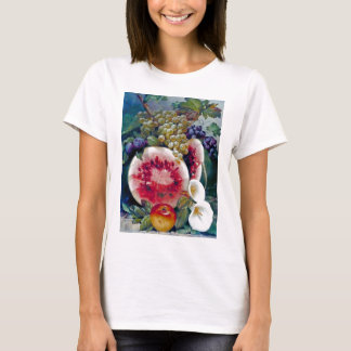 Fruit Watermelon Grape Apple Still life T-Shirt