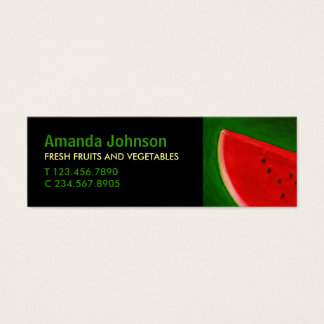Fruit Watermelon Vivid Custom Mini Business Card