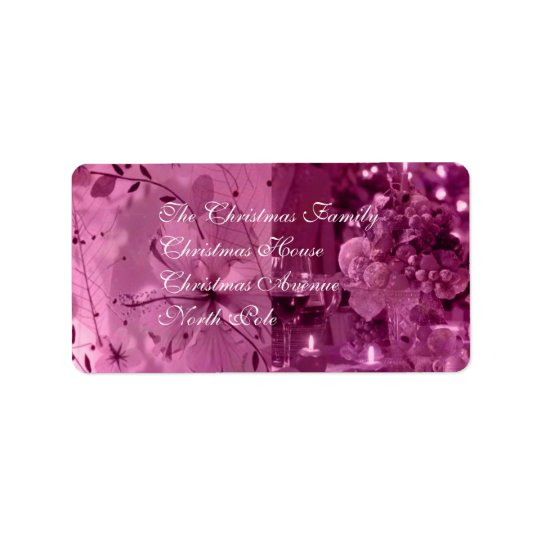 Fruit, Wine and Flowers Address Label