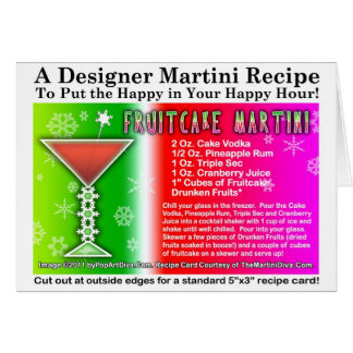 Fruitcake Christmas Martini Recipe Greeting Card