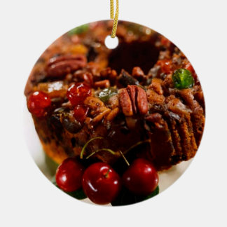 FRUITCAKE ROUND ORNAMENT