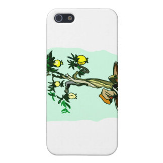 Fruiting Bonsai Yellow Fruit Graphic Image Design Cover For iPhone 5