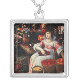 Fruitmarket , 1590 silver plated necklace