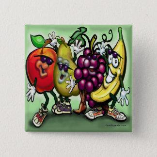 Fruits 15 Cm Square Badge