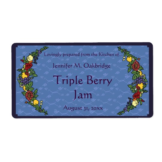 Fruits and Flowers Canning Jar Shipping Label