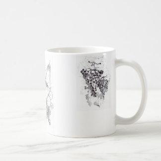 fruits and grapes coffee mug