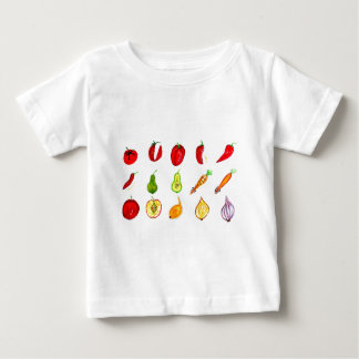Fruits and Vegetables Art Baby T-Shirt