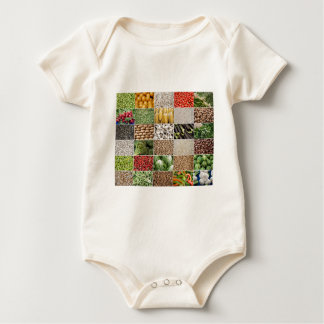 Fruits and Vegetables Baby Bodysuit