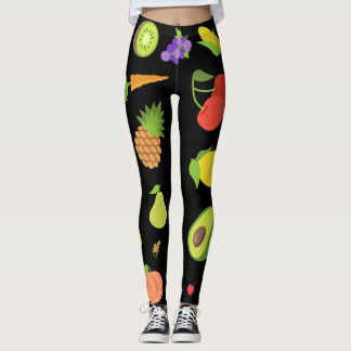 Fruits and Vegetables Emojis Leggings