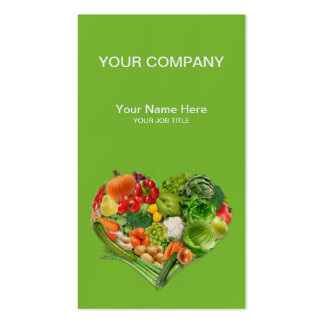 Fruits and Vegetables Heart Business Pack Of Standard Business Cards
